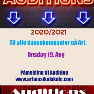 AUDITION TIL ALLE KOMPANIER